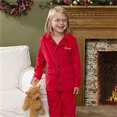 Holiday Cheer Embroidered Youth Pajama Set - 12173-K