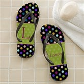 Polka Dots For Her Personalized Adult Flip Flops - 12180