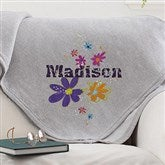 Flower Power Personalized Sweatshirt Blanket - 12188