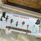 Ice Skating Family Character Personalized Oversized Doormat - 12193-O