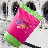 Flower Power Personalized Laundry Bag