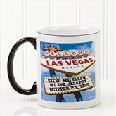 Welcome To Las Vegas Personalized Coffee Mug - 12215