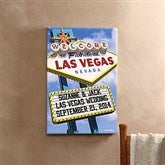 Welcome To Las Vegas Personalized Canvas - 12x18 - 12217-S