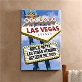 Welcome To Las Vegas Personalized Canvas  - 16x24 - 12217-M
