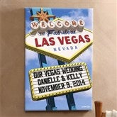 Welcome To Las Vegas Personalized Canvas  - 24x36 - 12217-L