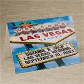 Welcome To Las Vegas Personalized Greeting Card - 12218