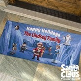 Santa Claus Is Comin' To Town® Personalized Oversized Doormat - 12230-O