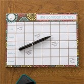 Simply Organized Personalized 8.5x11 Calendar Pad - 12231-S
