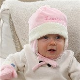 Winter Warmth Embroidered Baby Girl Hat - 12235