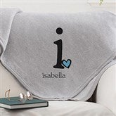 Heart Felt Monogram Personalized Sweatshirt Blanket - 12236