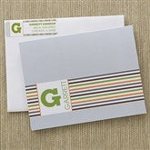 Stylish Stripes Note Cards & Envelopes - 12238