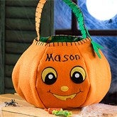 Pumpkin Pal Embroidered Trick or Treat Bag - 12242