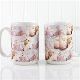 Photo Collage Personalized Coffee Mug 15 oz.- White - 12247-L