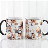3 Photo Collage Personalized Mug 11oz.- Black - 12247-B