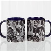 3 Photo Collage Personalized Coffee Mug 11 oz.- Blue - 12247-BL