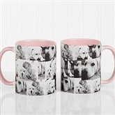 3 Photo Collage Personalized Coffee Mug 11 oz.- Pink - 12247-P
