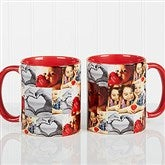 3 Photo Collage Personalized Coffee Mug 11 oz.- Red - 12247-R