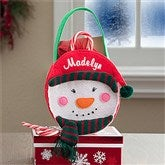 Embroidered Snowman Mini Treat Bag-Girl - 12248-G