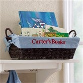 My Name Embroidered Storage Basket- Blue - 12252-B