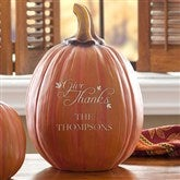 Give Thanks Personalized Pumpkin