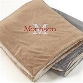Initially Yours Embroidered 60x72 Sherpa Blanket - 12255-L