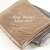 You Name it! Embroidered 60x72 Sherpa Blanket - 12256-L