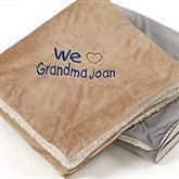 Warm Hearted Embroidered 50x60 Sherpa Blanket For Her - 12257-S