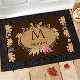 Autumn Hues Personalized Recycled Rubber Back Doormat - 12261-S