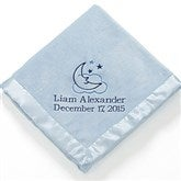 Baby Love Personalized Embroidered Blanket- Blue - 12287-B