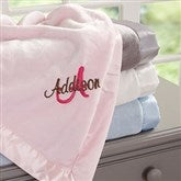 All About Me! Embroidered Baby Blanket For Girls - 12290