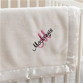 All About Me! Embroidered Baby Blanket For Girls - Ivory - 12290-I