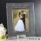 Orrefors Engraved Crystal Wedding Photo Frame - 12306