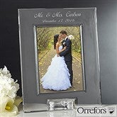 Orrefors Engraved Wedding Photo Frame - 12306
