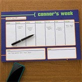 His Weekly Agenda Personalized 11x17 Weekly Planner - 12311-L