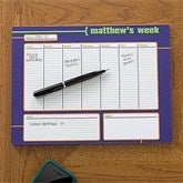 His Weekly Agenda Personalized 8.5x11 Calendar Pad - 12311-S
