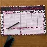 Her Weekly Agenda Personalized 11x17 Calendar Pad - 12312-L
