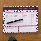Her Weekly Agenda Personalized 8.5x11 Calendar Pad - 12312-S