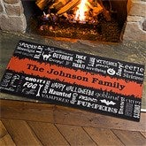 Halloween Words Personalized Oversized Doormat - 12314-O