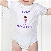 Sister Character© Personalized Colored Baby Bodysuit - 12315-CBB