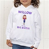 Sister Character© Colored Toddler Hooded Sweatshirt - 12315-CTHS