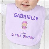 Sister Character© Personalized Baby Bib - 12315-B