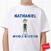 Brother Character Personalized Hanes® Youth T-Shirt - 12316-YCT