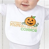 Cutest Pumpkin In The Patch Personalized Infant Bib - 12327-B