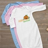 Cutest Pumpkin In The Patch Personalized Baby Gown - 12327-G