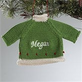 Christmas Sweater Embroidered Ornament - Green - 12335-G
