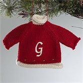 Christmas Sweater Embroidered Ornament - Red - 12335-R
