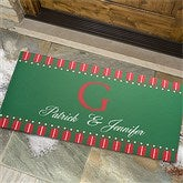 Christmas Spirit Personalized Oversized Doormat - 12367-O