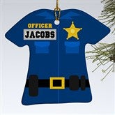 1-Sided Police Uniform Personalized Ornament - 12373-1