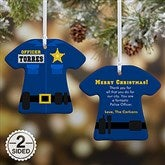 2-Sided Police Uniform Personalized Ornament - 12373-2