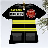 1-Sided Firefighter Uniform Personalized Ornament - 12374-1